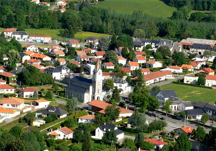 vue aérienne La Barthe-de-Neste