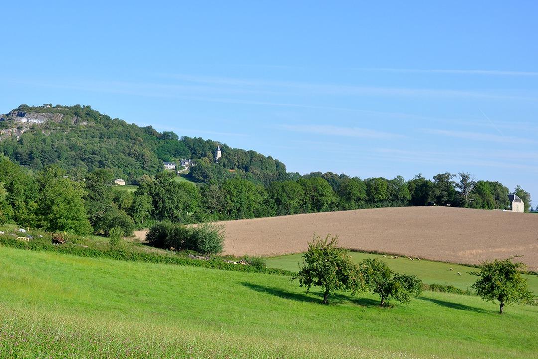 Vue du village de Montoussé