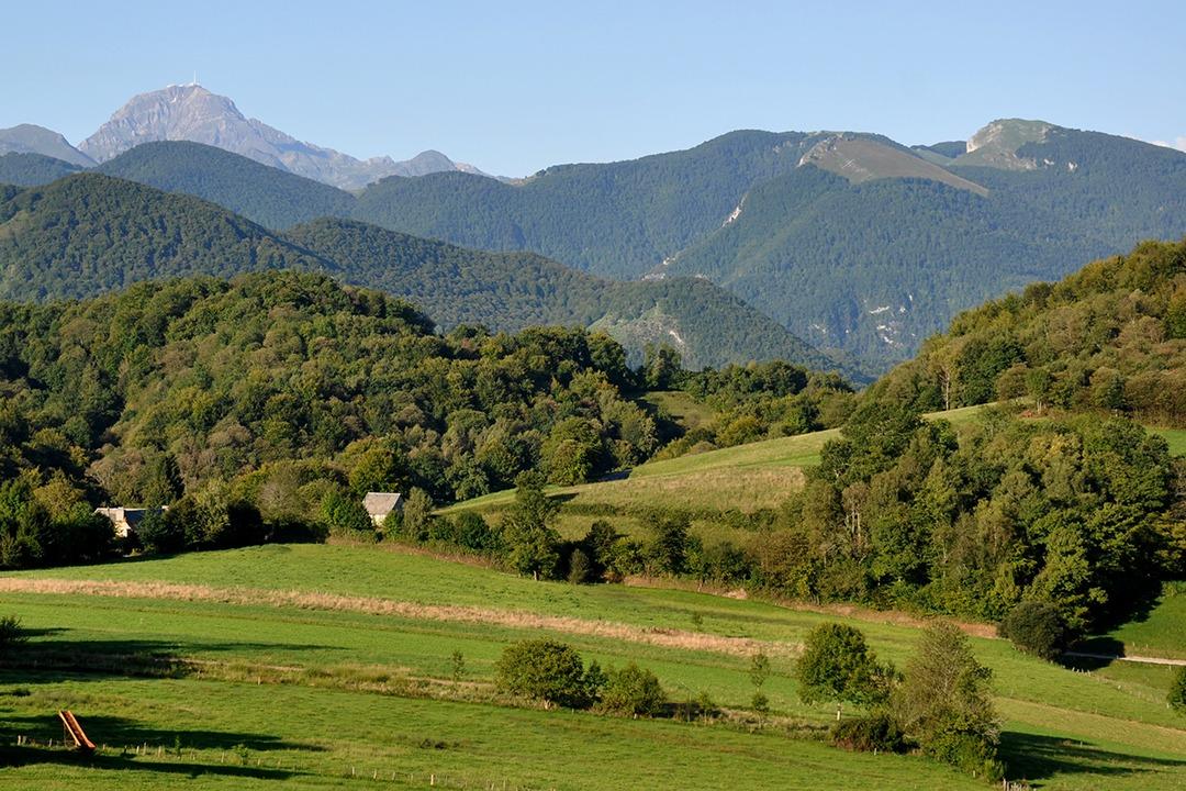 Vue sur Pic du Midi et Casque du Lhéris depuis Labastide
