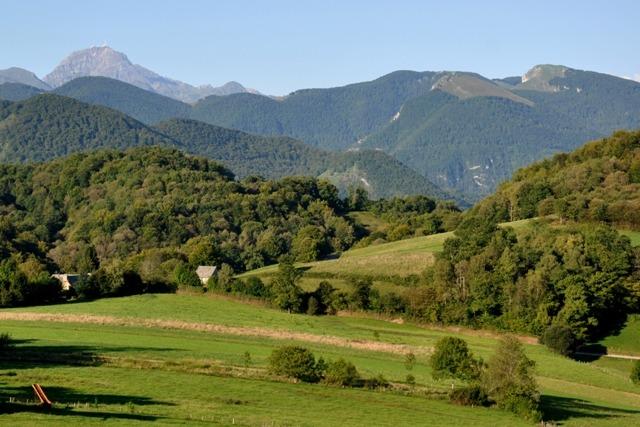 Vue sur le Pic du Midi et le Casque du Lhéris depuis Laborde
