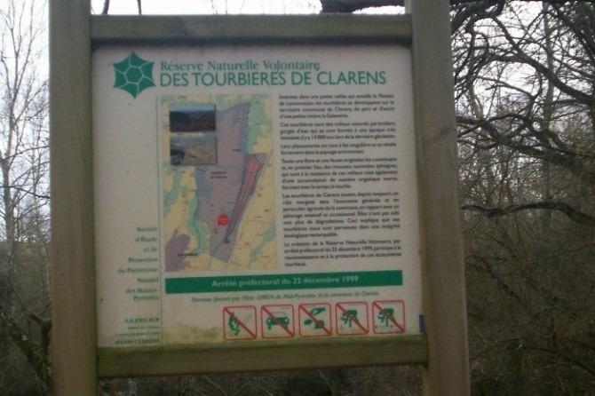 Panneau Tourbière de Clarens